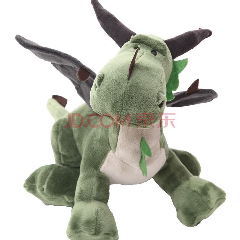 可爱恐龙毛绒玩具公仔侏罗纪恐龙娃娃卡通创意生日情人节礼物 绿色