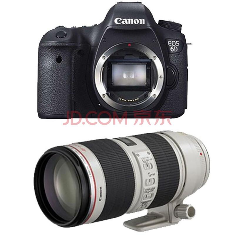 佳能(Canon) EOS 6D 单反套机(70-200mm f/2.8L IS II USM 镜头)(免费赠送更多精美配件)