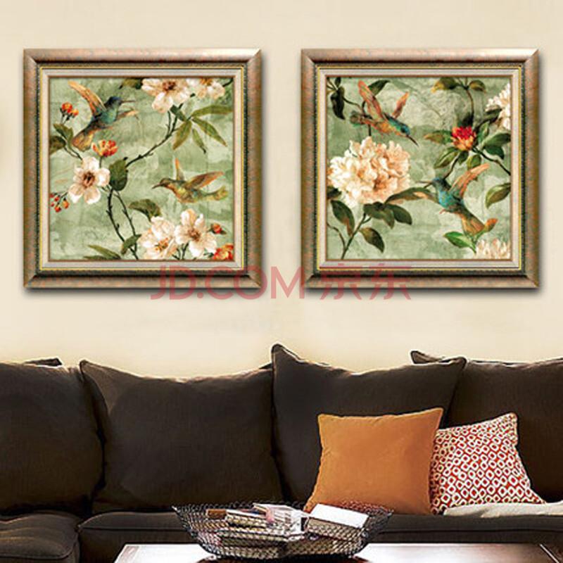 手绘风格美式欧式客厅餐厅装饰画壁画挂画y
