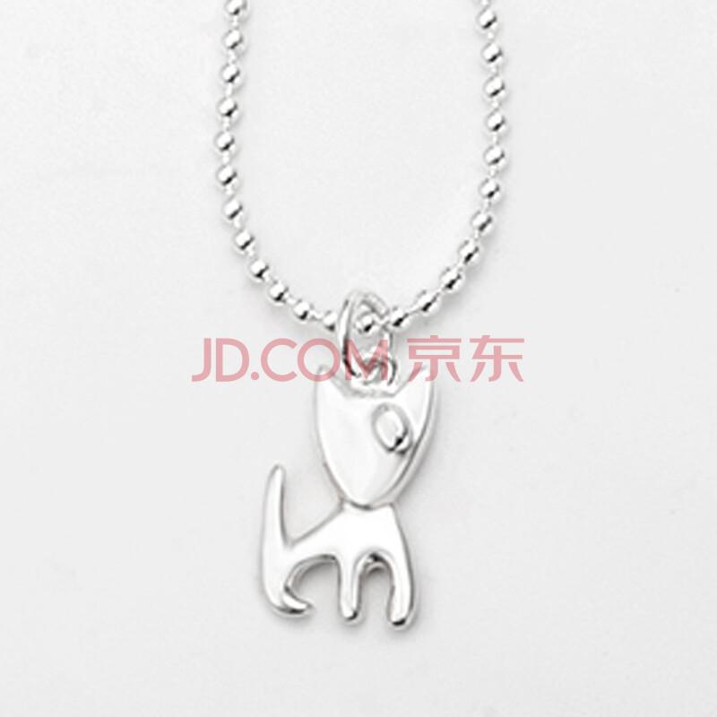 手工实心制作简洁可爱儿童动物银项链宝宝银饰吊坠