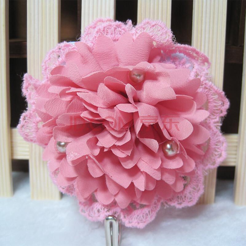 朵忆姿韩版手工花歌莉娅粘钩挂钩 时尚可爱 歌莉娅粘钩--粉边粉花
