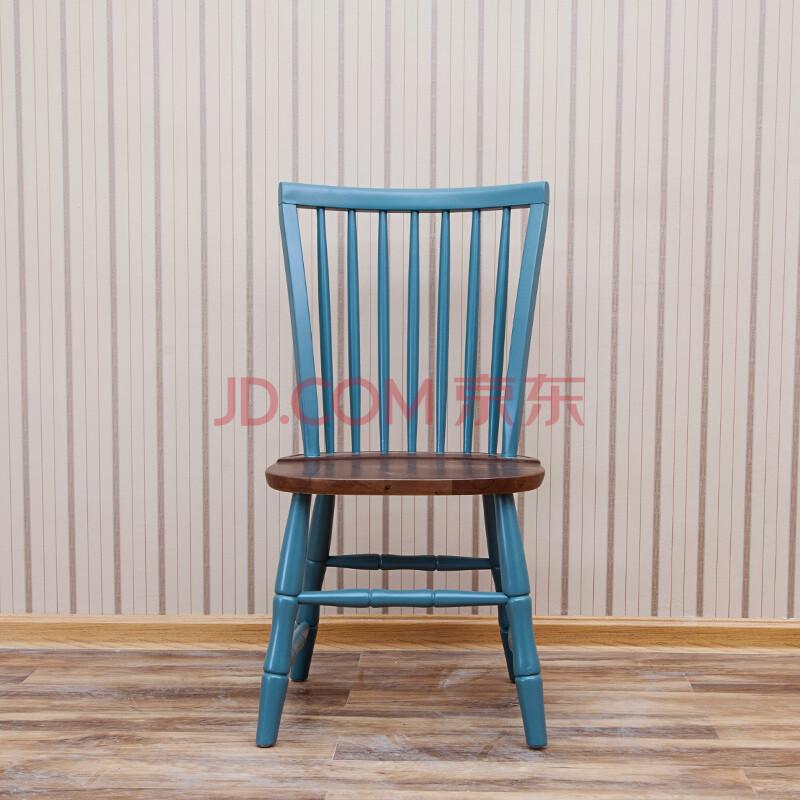斯维特srity 美式乡村田园风格2015年新款美式实木方椅比邻美家进口白