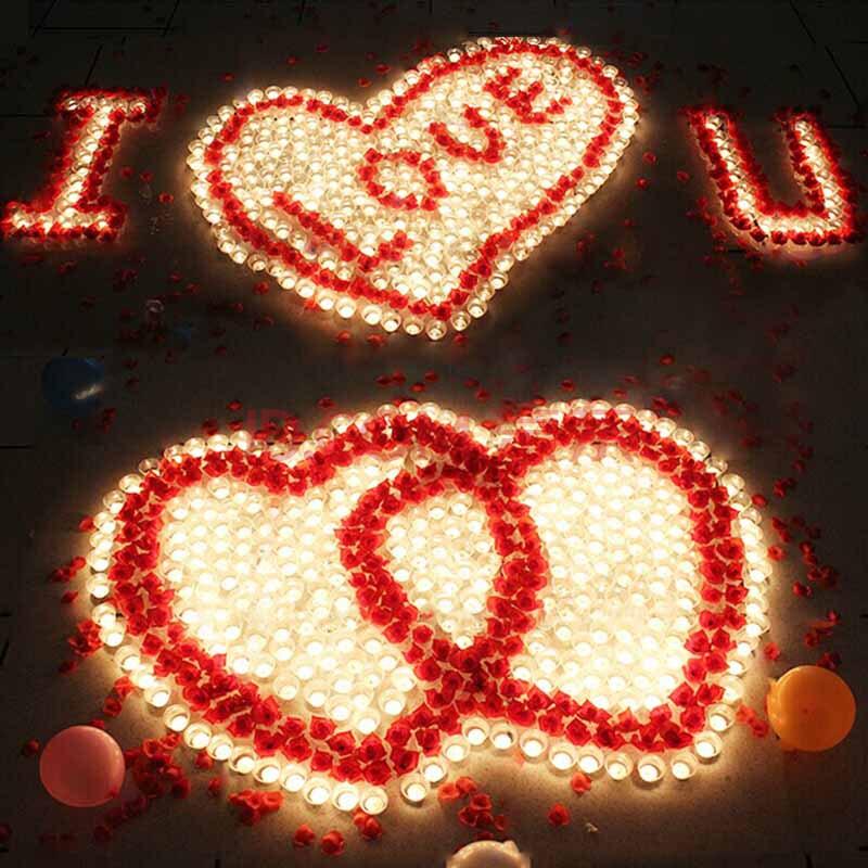 京唐 表白求婚求爱心形蜡烛玫瑰套餐 生日礼物 创意浪漫摆图蜡烛 创意图片