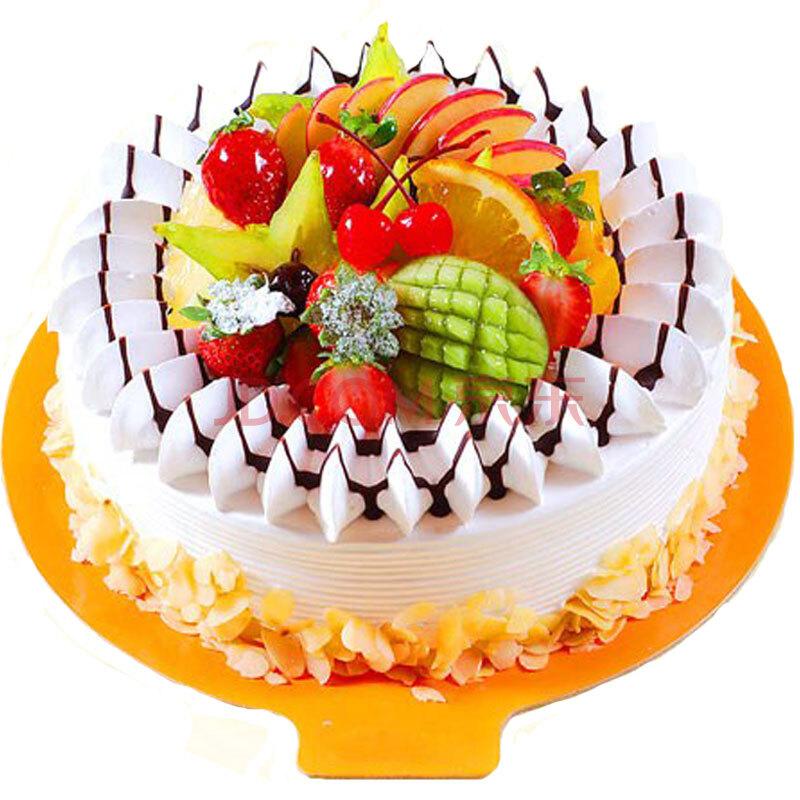 七夕节鲜花蛋糕预定水果奶油蛋糕双层生日蛋糕预定北京上海深圳同城配