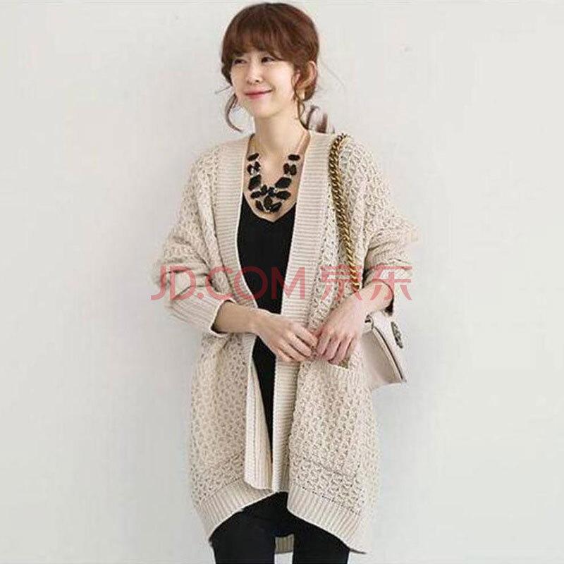 秋冬针织外套女开衫宽松加厚