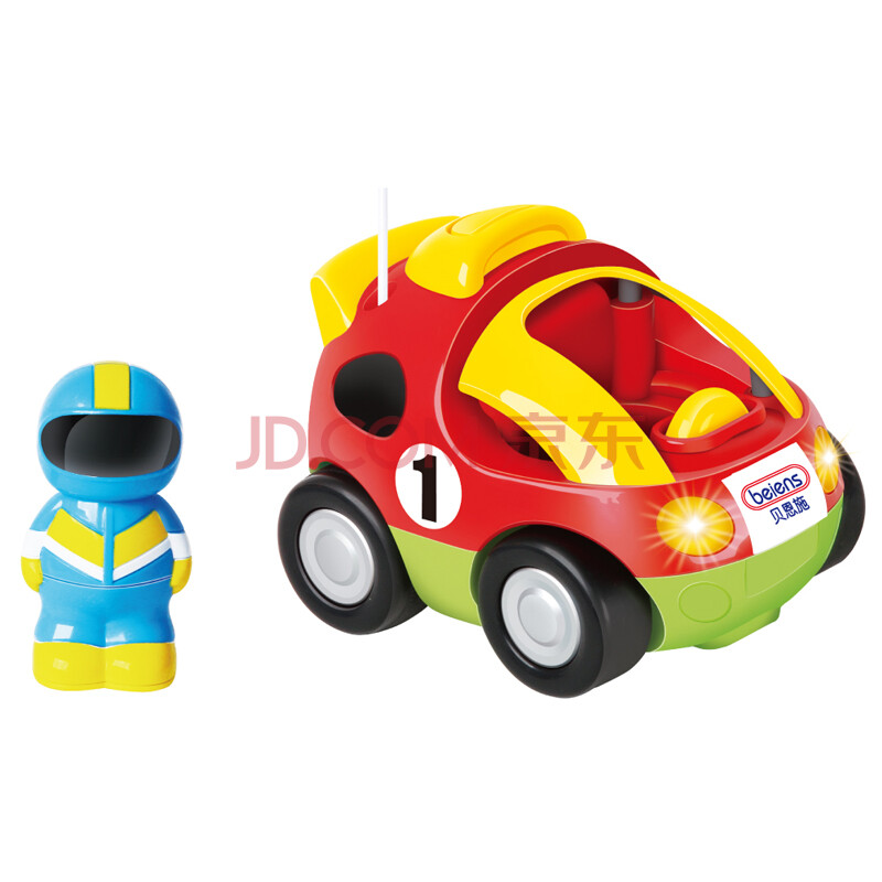 贝恩施 遥控卡通车遥控车赛车 儿童玩具车遥控汽车 6601 红色警车