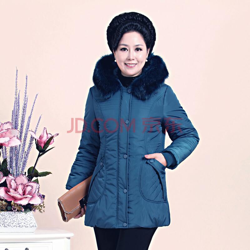 中老年女装冬装棉衣新款中老年女装妈妈装时尚图片