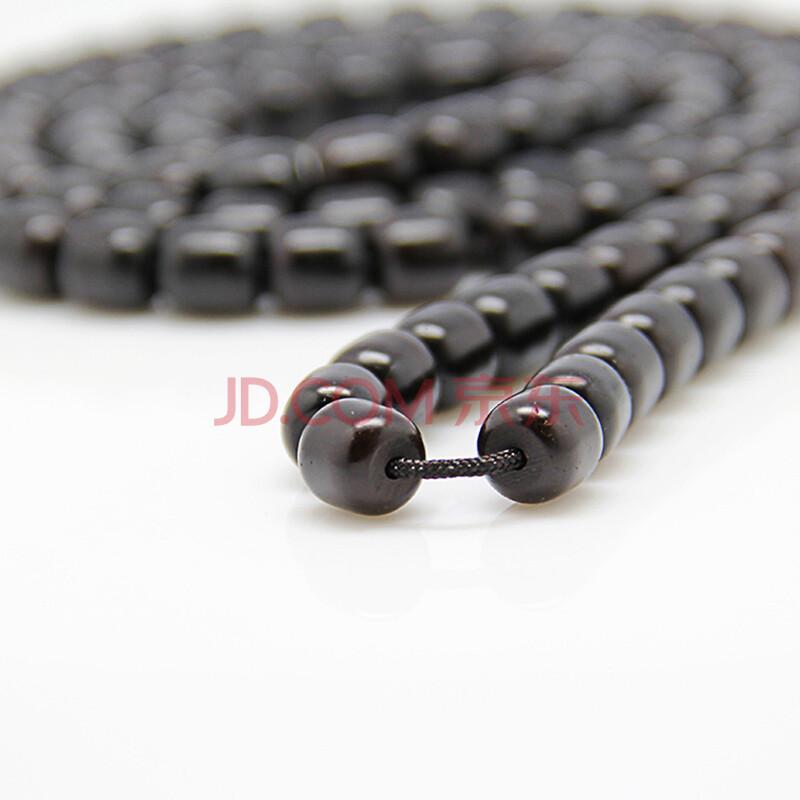手工天然椰壳蒂料桶珠108佛珠手串手链9(无棕线高密)可设计款式