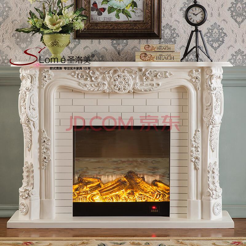 5米欧式壁炉装饰柜象牙白色