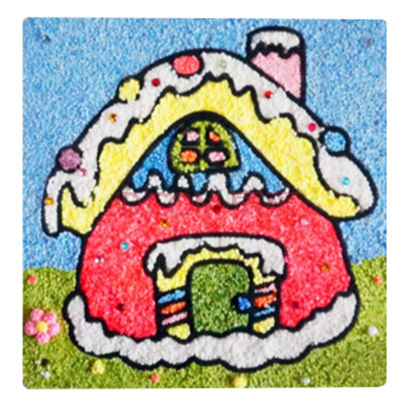 儿童益智手工彩泥 珍珠粘土画