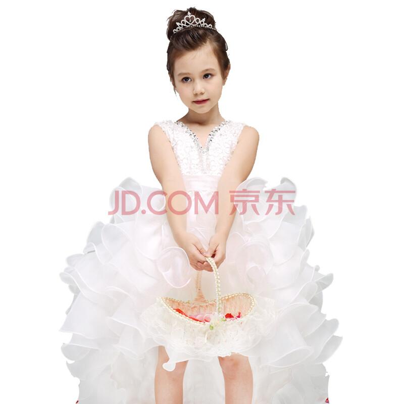 女童公主裙儿童婚纱礼服拖尾