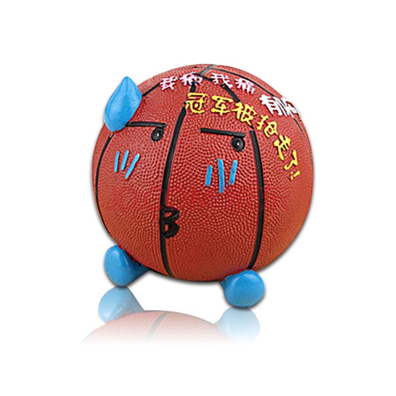 篮球存钱罐 储蓄罐 创意可爱实用家居装饰树脂工艺品摆件 礼品 郁闷款图片