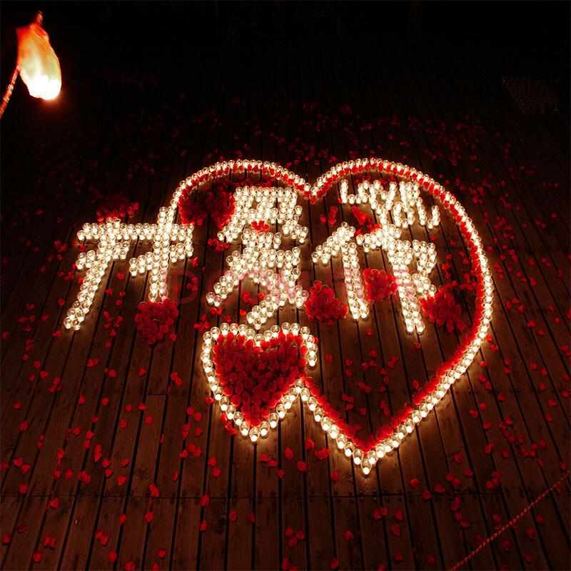 七夕浪漫蜡烛图片