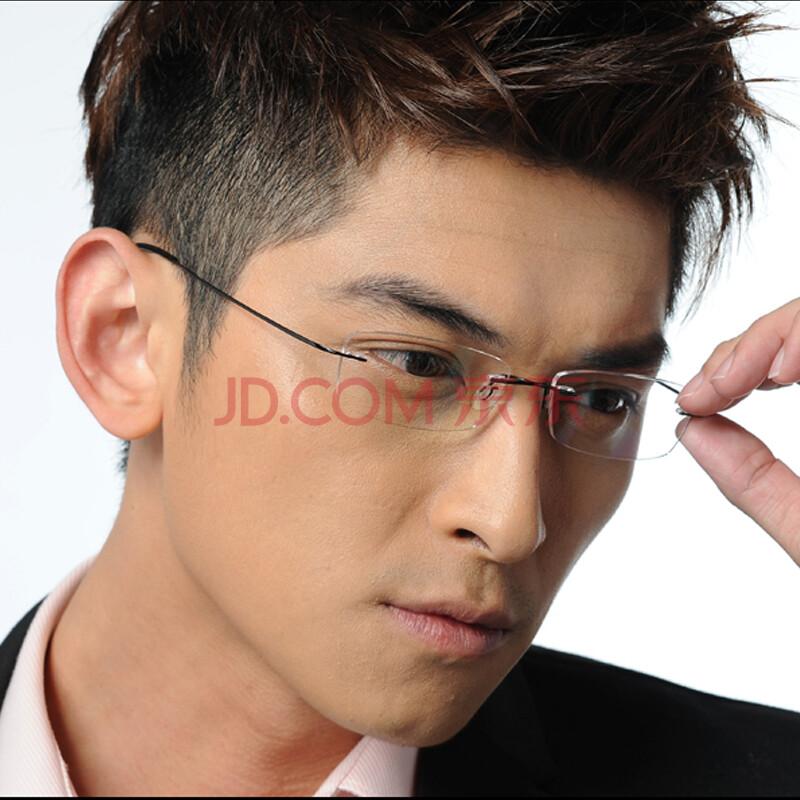 无框眼镜架 男士近视眼镜框架超韧无螺丝图片