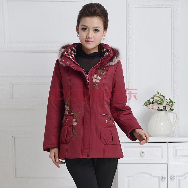 秋冬装外套 暗红色