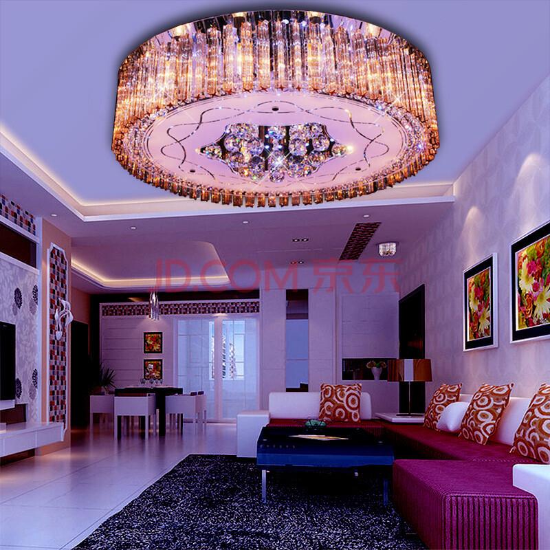 博新 客厅灯led水晶灯卧室吸顶灯现代简约圆形灯具 a款直径30cm