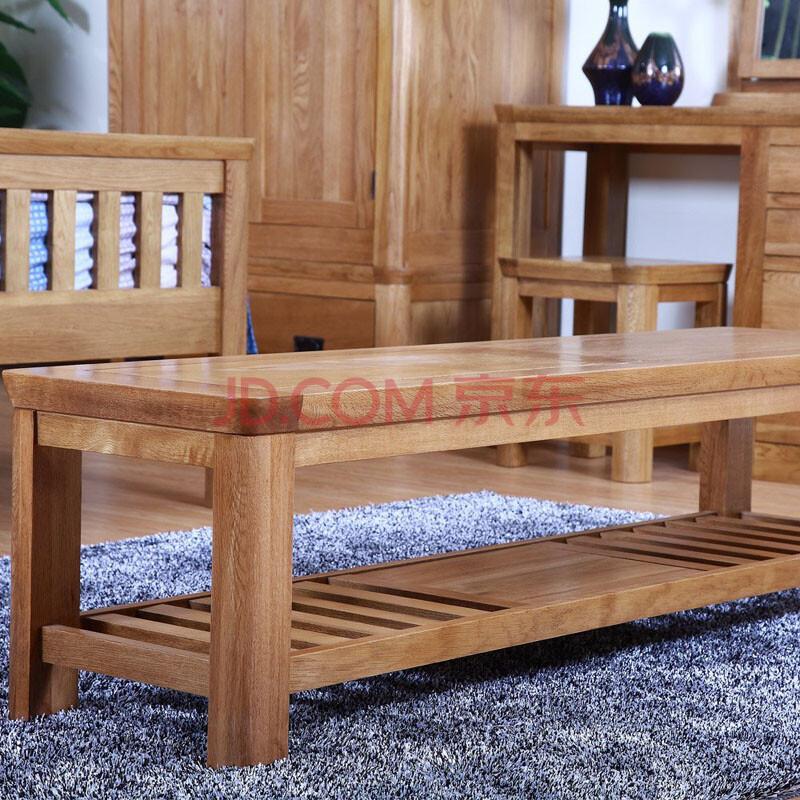 华洋尚品 家具 换鞋凳 欧式鞋柜 沙发凳子 美式脚凳 时尚小凳子 实木