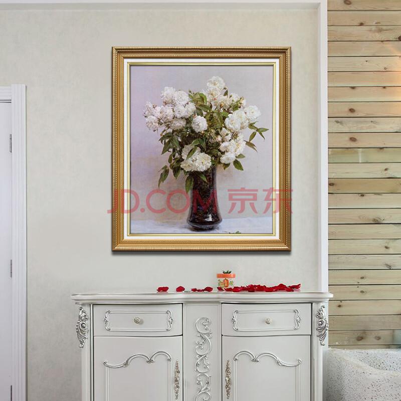 麦画 现代纯手绘油画客厅三联画 装饰画 欧式静物画 花卉壁画 卧室图片