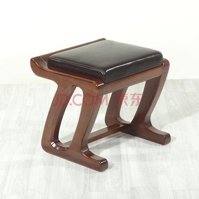 青岛一木家具 实木梳妆凳 现代简约中式化妆凳子 方凳矮凳换鞋凳 鼎尊