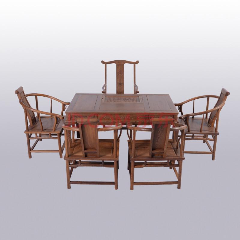 博古恒韵 红木家具 鸡翅木茶桌 中式仿古泡茶桌功夫茶几茶艺桌子实木