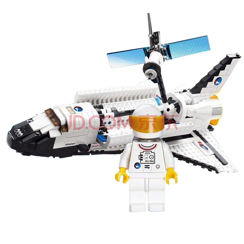 开智乐高式航天系列亚特兰蒂斯号航天飞机 益智拼装积木玩具