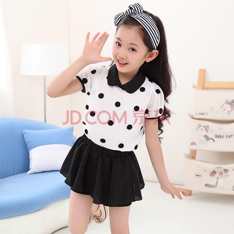 中大童儿童短袖短裙短裤两件套l603