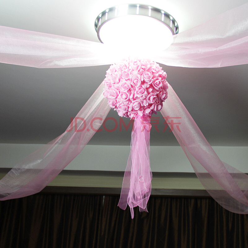 纱幔做花球步骤