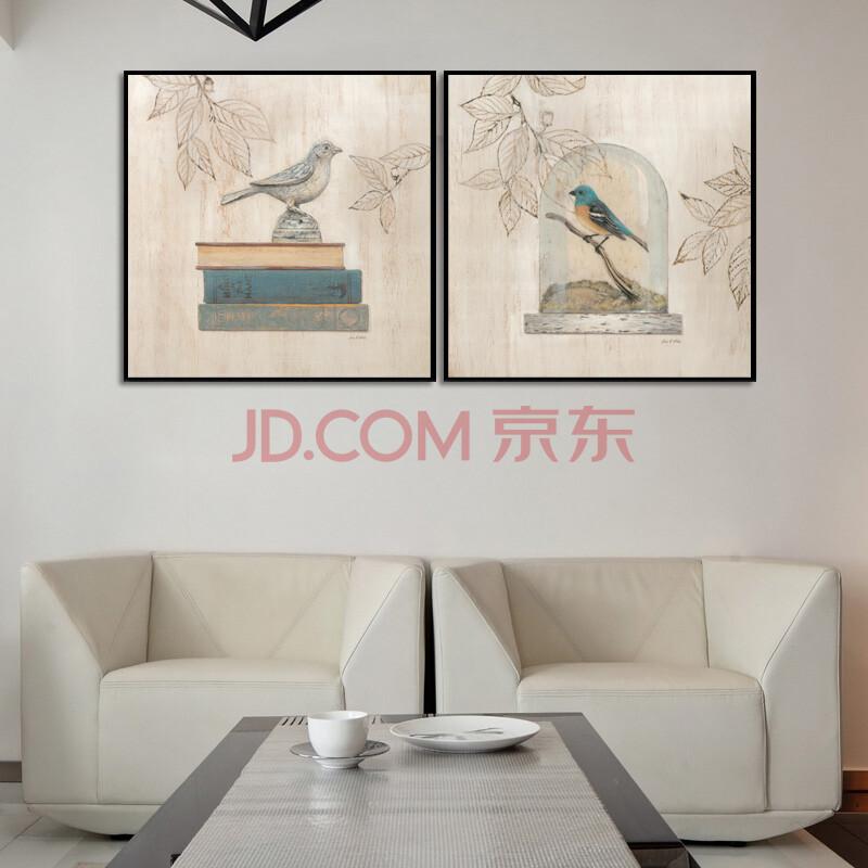 客厅现代有框画挂画