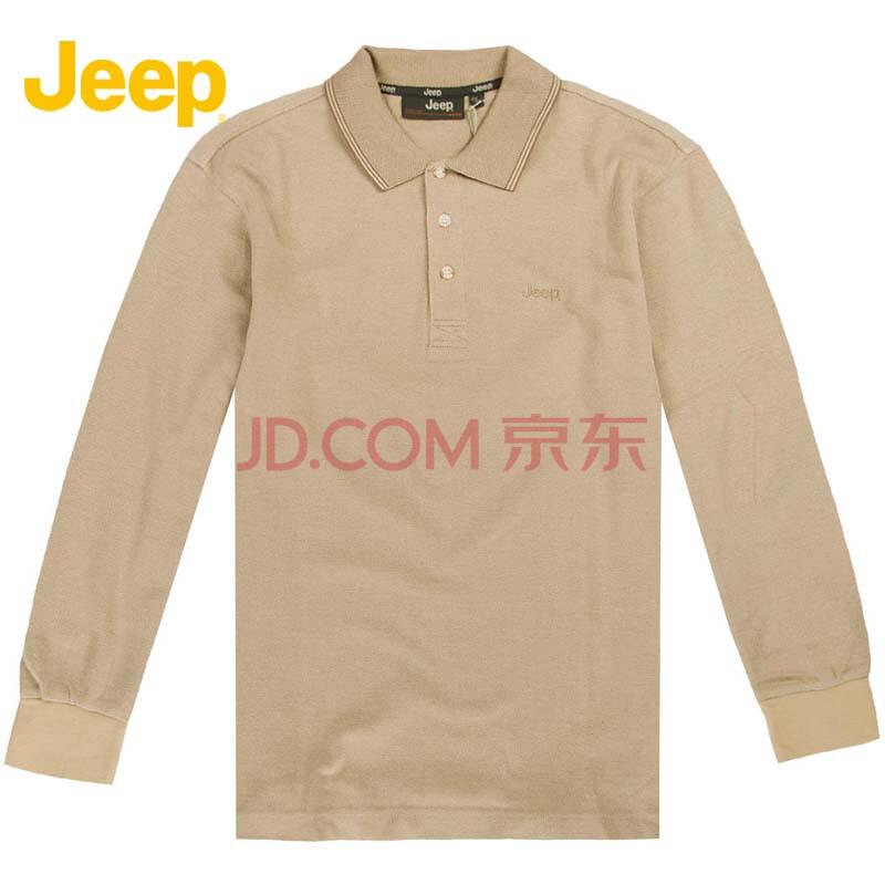 吉普(jeep)男士商务休闲纯棉纯色长袖t恤 js6kt105 r3