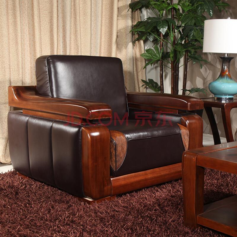 青岛一木家具 现代中式 楸木沙发 木制多功能自由 客厅实木沙发组合