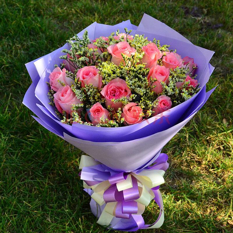 11枝红玫瑰花鲜花快递女生全国【指定生日送达】送花女生创意礼物跳日期左眼图片