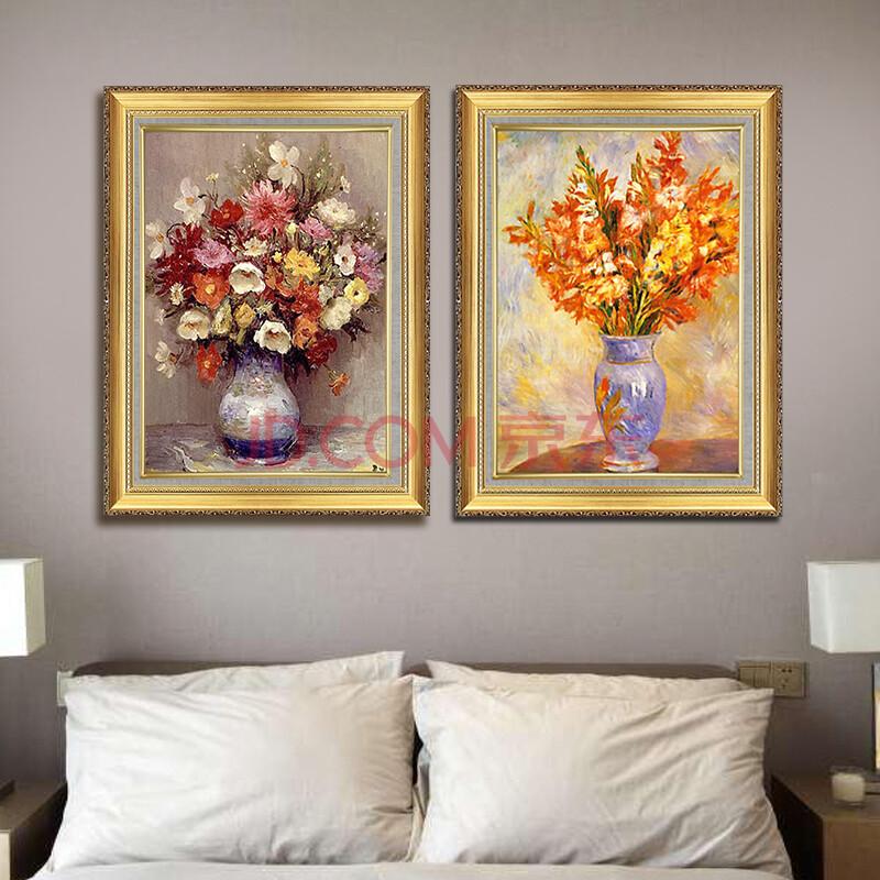 纯手绘花卉油画