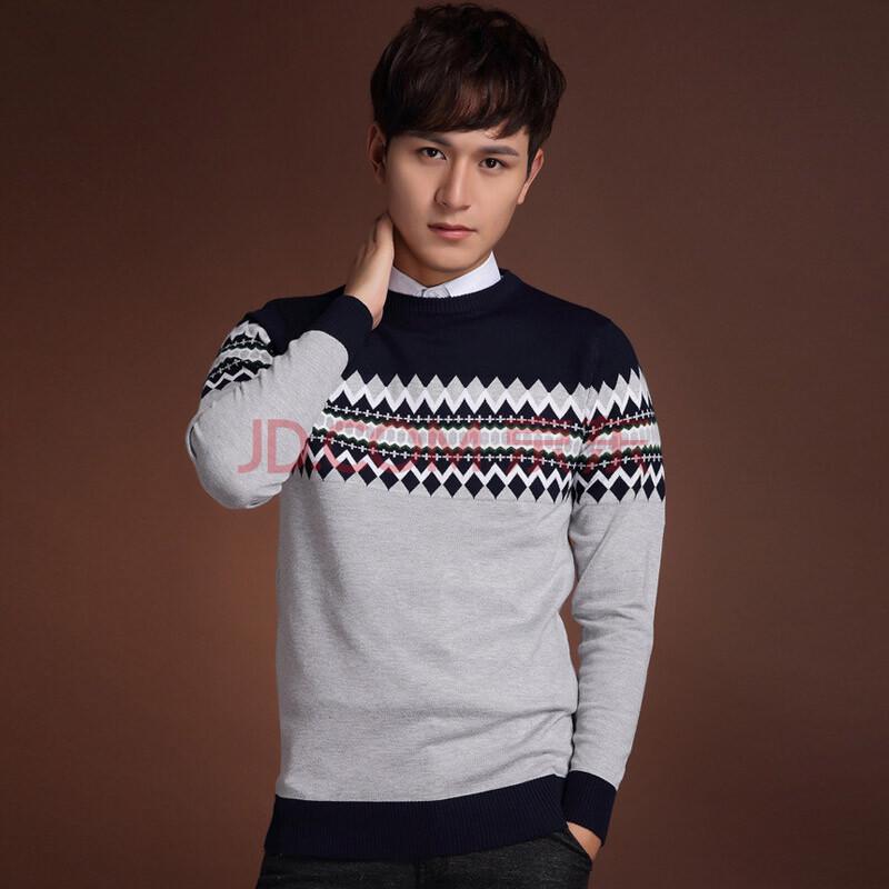 �9/+�.#�-f��,�j'_j.z 冬季新款加绒男士针织衫 圆领时尚休闲加绒保暖