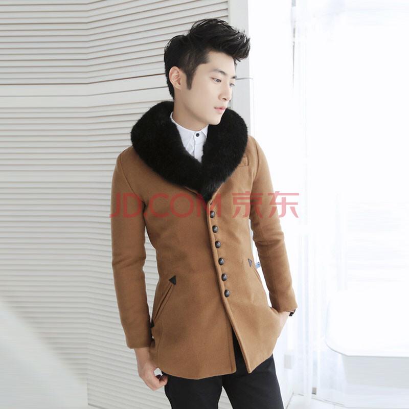 万利边l#��ozl�Myb-��._意万利(yiwanli) 2014秋冬新款 韩版男式修身休闲毛呢