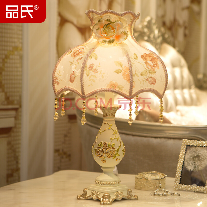 欧式田园蕾丝创意台灯卧室床头灯婚庆装饰灯图片