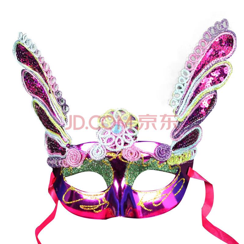 蝴蝶形状面具手绘参照