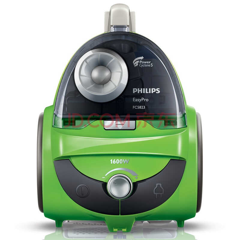 飞利浦(Philips)吸尘器 FC5823/81 劲洁系列卧式无尘袋(亮绿色))