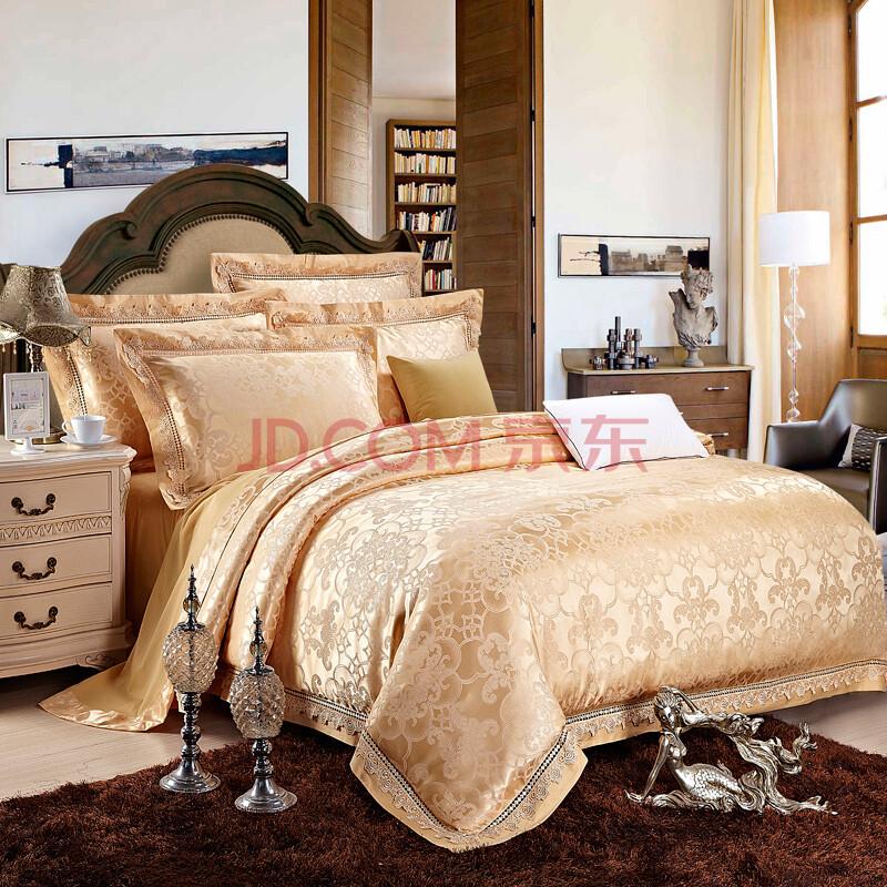 佰家好家纺 欧式床品套件贡缎提花四件套床上用品婚庆图片