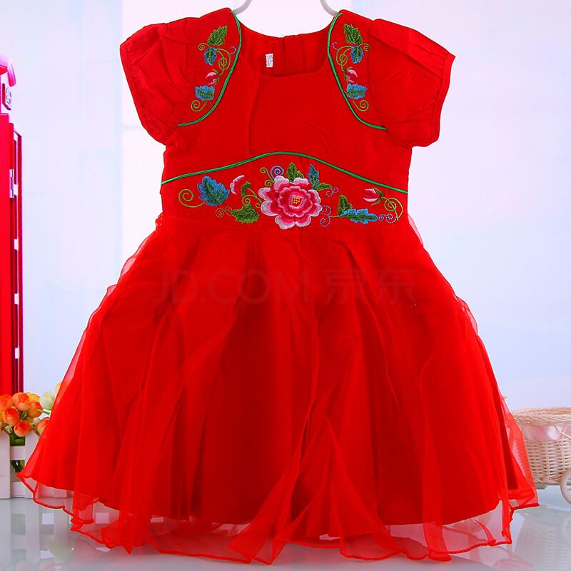 红色古代婚纱手绘