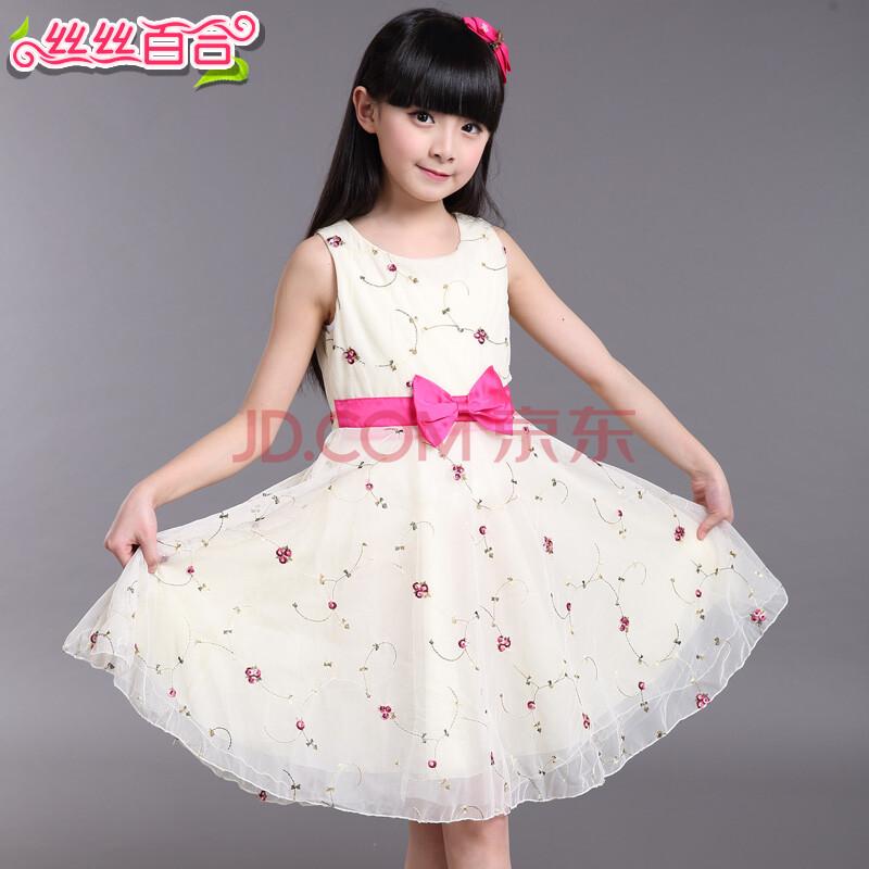 儿童连衣裙大童女装碎花公主裙子小孩衣服春夏款背心