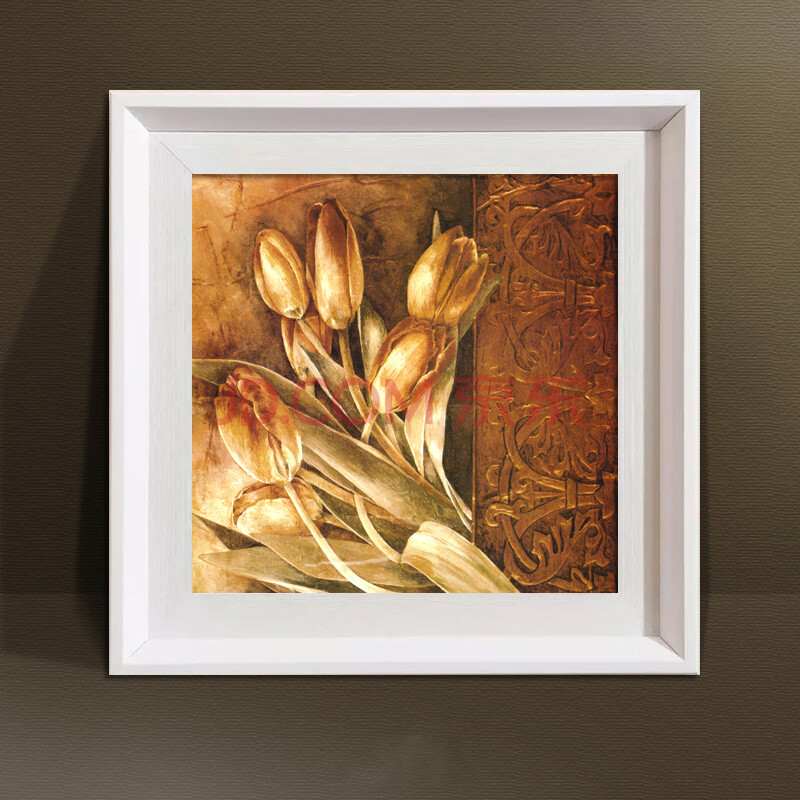 框画家饰卧室餐厅挂画壁画现代油画简约 单块价格 yk-000 a1白色边框
