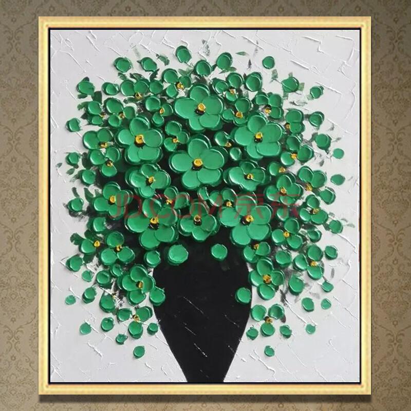 易美馨手绘油画立体客厅餐厅玄关欧式现代抽象风景树