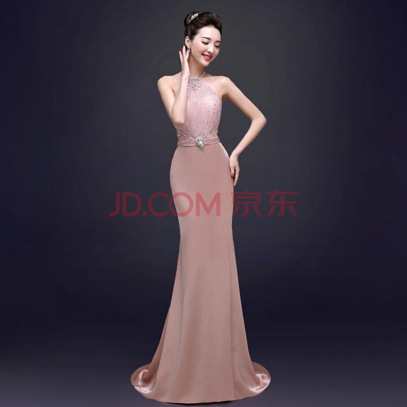 新款秋新娘结婚礼服裙主持人宴会鱼尾女士晚礼服长款