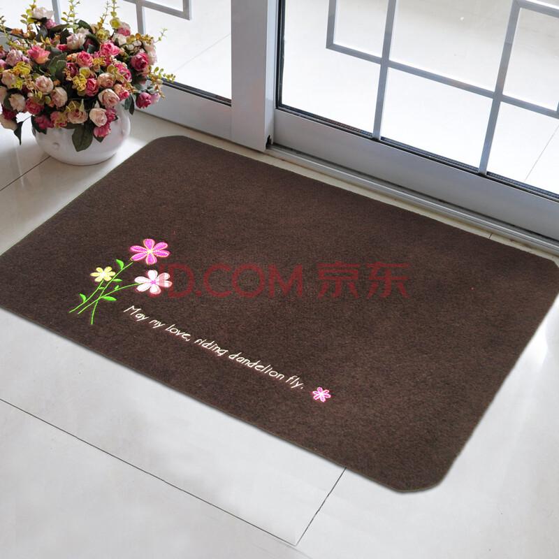 捷成 进门卧室客厅地毯地垫 茶几门垫 田园小清新绣花