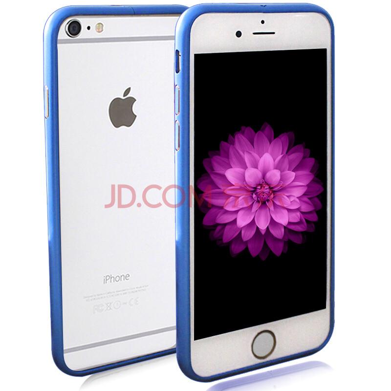 依波特边框iphone6/6plusv边框壳苹果金属手机轻薄海马扣保护套深蓝铁扭腰盘图片