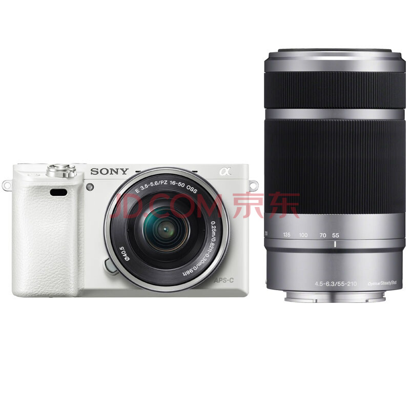 索尼(SONY) ILCE-6000L APS-C双镜头超长焦段微单套机 白色(2430万有效像素 16-50/55-210 a6000/α6000)