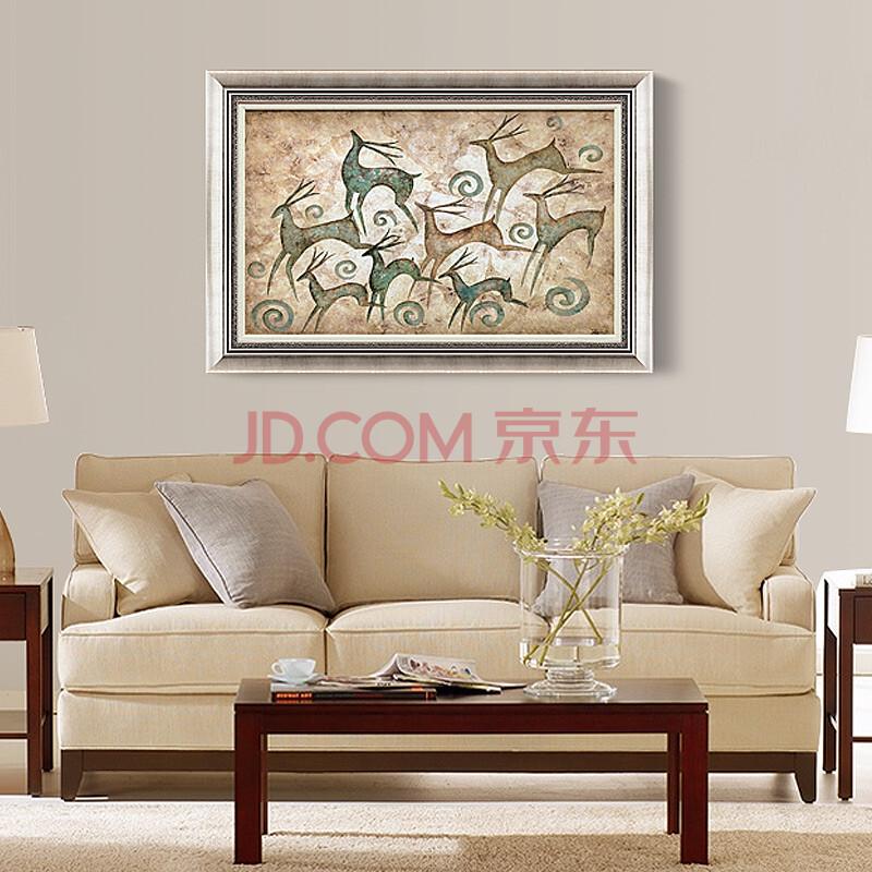 高端字画油画客厅装饰画玄关无框画沙发背景壁画餐厅挂画会所墙画3353图片