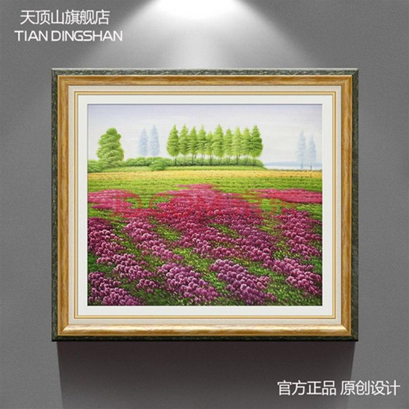 餐厅装饰画过道壁画油画挂画欧式田园家园风景画背景