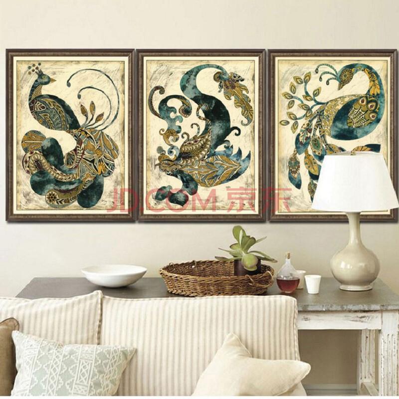 客厅装饰画 卧室风景画玄关挂画餐厅壁画动物有无框画书房油画凤凰