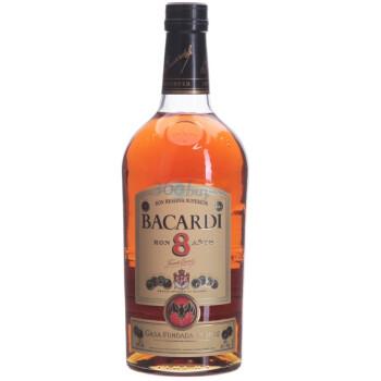 Bacardi百加得八年朗姆酒 1L